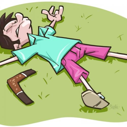 bumerangi on palannut takaisin, kuvittaja / illustrator Petri Suni