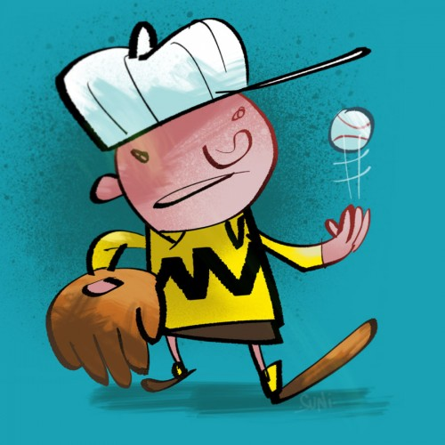 jaska jokunen viskelee palloa, kuvittaja / illustrator Petri Suni