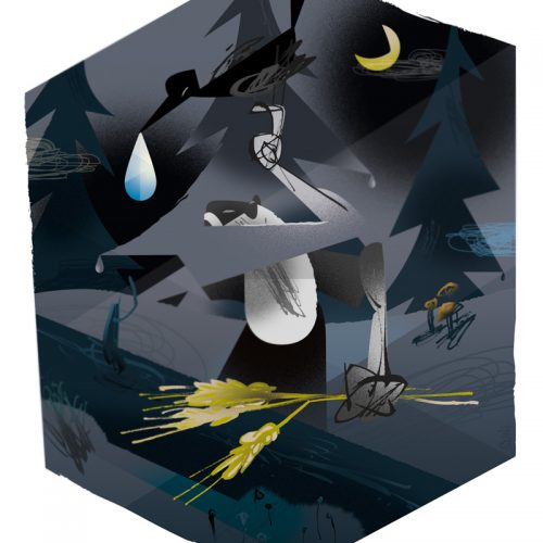 korpimaan kyynel vodka, kuvittaja / illustrator Petri Suni